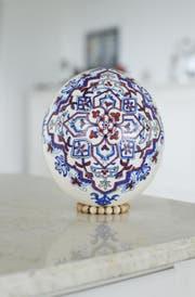 Ein Ei, das auch an der Ausstellung in der Schrinerhalle in Baar zu sehen sein wird. (Bild: Stefan Kaiser)