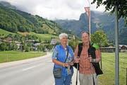 Ferienglück in Engelberg: Schon seit 25 Jahren kommen Wolfgang und Renate Bappert aus Düsseldorf hierher. (Bild: Marion Wannemacher / Neue OZ)