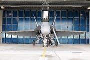 Der Schwedische Kampfjet Gripen von Saab wir auf dem Militärflugplatz Emmen den Medien als möglicher Tiger-Teilersatz vorgestellt. Auf dem Bild zu sehen ist eine F/A-18, welche die Saab Gripen auf ihrem Testflug begleitete. Das Bild entstand am Dienstag, 12. August 2008. (Bild Pius Amrein/ Neue LZ) Medien, Politik, Menschen, Militär, Technik, Flugzeug, Jet, Tiger-Ersatz (Bild: Pius Amrein (Neue LZ) (Neue Luzerner Zeitung))