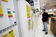 Die Energieetikette soll den Konsumenten genau informieren. Dabei herrscht vielerorts Verwirrung. (Bild Stefan Kaiser)