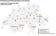 Entwicklung der Wolfspopulation in der Schweiz (Bild: Quelle: KORA/Grafik: jb)