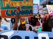 Solidarität mit Homosexuellen aus Uganda in Südafrika (Archiv) (Bild: Keystone)