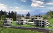 So soll die neue Wohnüberbauung mit 21 Wohnungen in Kastanienbaum dereinst aussehen. (Bild: Visualisierung PD)