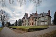 Die Villa Vicovaro auf Dreilinden. Das Gebäude hat eine höchst spannende Geschichte. (Bild: Pius Amrein (Luzern, 21. Januar 2014))