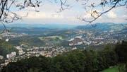 Blick vom Sonnenberg auf Luzern und ins Rontal, wo die Zersiedelung besonders gut sichtbar ist. (Bild: Corinne Glanzmann (Kriens, 15. September 2012))