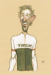 Fabian Cancellara, der letzte Schweizer Sieger. (Bild: Zeichner: Peter Gut)