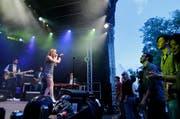 Mothership Caldonia auf der Bühne beim Landsgemeindeplatz am letztjährigen Jazz Night Zug Festival. (Archivbild Stefan Kaiser)
