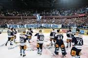 Die Fans feierten am Montagabend ihre Mannschaft. (Bild: Stefan Kaiser)