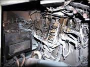 Der brandschaden im Führerraum der Lokomotive. (Bild: pd)