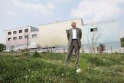 Pierre Peyer, Präsident der Stiftung Musikhochschule Luzern, auf dem Bauplatz des neuen Musikschulgebäudes neben dem Kulturzentrum Südpol. (Archivbild Manuela Jans/Neue LZ)