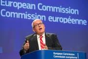 EU-Kommission-Vize Frans Timmermans droht Polen. (Bild: Keystone)