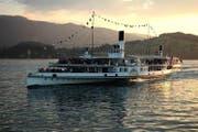 Das Dampfschiff Schiller in der Abendstimmung. (Bild: SGV)