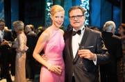 Michael Haefliger, Intendant des Lucerne Festival, und seine Partnerin Andrea Lötscher, die sich innert Kürze zur perfekten «First Lady» entwickelt hat. (Bilder Roger Grütter)