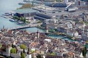 Blick auf Luzern. (Bild Pius Amrein/Neue LZ)