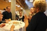 An der Kickoff-Veranstaltung nahmen Mitglieder der Kommission für Altersfragen und Vertreter von Immobilienfirmen teil. (Bild: pd)