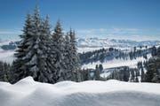 Schneepanorama von der Rigi aus gesehen, aufgenommen im Winter 2013. (Bild: Gaetan Bally/Keystone (Rigi, im Winter 2013))