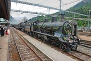 Bahnfans können die alte Gotthard-Bergstrecke von historischen Zügen aus bewundern. (Bild: PD)