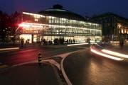 Das Bourbaki Panorama bei Nacht. (Bild Peter Fischli/Neue LZ)