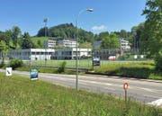 Die Luzerner Schul- und Sportanlage Utenberg (Bild: Maximilian Bachmann)