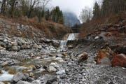 Der Buoholzbach bei niedrigem Wasserstand. (Bild: Corinne Glanzmann / Neue NZ)