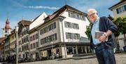 Verleger Kurt Heimann: «Das Stadtcafé hat einen Kulturauftrag.» (Bild: Philipp Schmidli (Sursee, 12. Mai 2017))