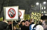 In Wien gab es Proteste gegen die FPÖ, deren Chef Christian Strache und Bundeskanzler Sebastian Kurz. (Bild: Hans Putz/AFP (26. Januar 2018))