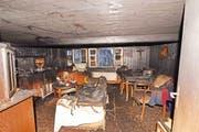 Am über zweihundert Jahre alten Haus entstand erheblicher Sachschaden. (Bild: Foto: Kantonspolizei Obwalden)