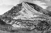 Eine Darstellung des Bergsturzes von Goldau im Jahr 1806. (Bild: Photopress-Archiv/Keystone)