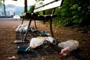 Abfall liegt am Boden. (Archivbild Neue LZ)