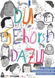 Das Plakat des Kinderparlaments der Stadt Luzern zum Tag gegen Rassismus. (Bild: PD)
