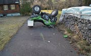 Der Quadfahrer verursachte in Oberägeri einen Selbstunfall. (Bild: PD/Zuger Polizei)