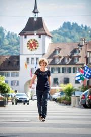 Unterwegs im Städtli: Erna Bieri-Hunkeler (58) ist seit 2011 Stadtpräsidentin von Willisau. (Bild: Dominik Wunderli)