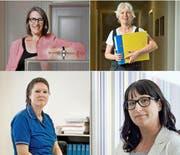 Sie schafften es ohne Quote: (im Uhrzeigersinn): Friederike Pfromm (48), Judith Lauber (61), Marion Loretan (34) und Karin Pauleweit (56). (Bild: Neue LZ)