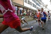 Finish des Kindersturms. (Bild: Werner Schelbert / Neue ZZ)