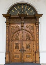 Eingangstüre zur Klosterkirche St. Urban (Bild: Roger Grütter)