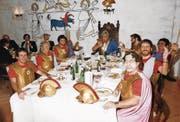 Seit 125 Jahren würdigt die Fidelitas Lucernensis die «gehobene Stimmung» – so wie hier im Jahr 1983 als Römer. (Bild: PD)