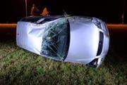 So sah das Auto nach dem Unfall aus. (Bild: Luzerner Polizei)