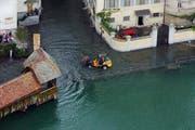 Das Siedlungsgebiet soll gegen Hochwasser wie hier in der Stadt Luzern im August 2005 besser geschützt werden. (Bild: Archiv Neue LZ)