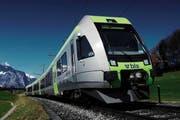 Dieser Lötschberger-Zug, der heute zwischen Interlaken Ost und Zweisimmen verkehrt, kommt ab Dezember 2015 zwischen Luzern und Bern zum Einsatz. (Bild: BLS)