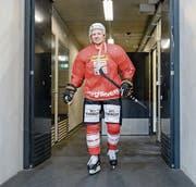 Damien Brunner im Training der Schweizer Nationalmannschaft. (Bild: Andy Mueller/Freshfocus (Biel, 19. April 2017))