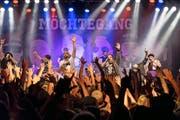 Superstimmung herrschte in der Chollerhalle bei der «Campione»-Albumtaufe von Möchtegang.Bilder: Christian H. Hildebrandt (1. Oktober 2016)