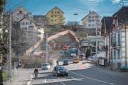 Bei der Kreuzung Steghof kommt es oft zu gefährlichen Situationen. (Bild: Pius Amrein (Luzern, 8. März 2018))