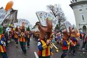 Städerschränzer mit dem Sujet Gschtoche Bock. (Bild: Markus von Rotz / Neue OZ)