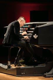 Brachte seine futuristische Orgel mit ins KKL: Cameron Carpenter. (Bild: Priska Ketterer/LF)