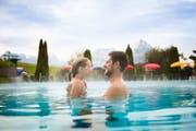 Der «Swiss Holiday Park» in Morschach erhält den «Holidaycheck Gold Award 2018». Im Bild ist das Aussenbecken. (Bild: pd/Marco Quandt)