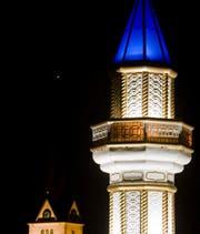 Das Minarett der Moschee in Wangen bei Olten. (Bild: Keystone)