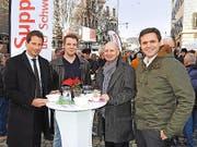 Sandro Kutschera, Oliver Strohhammer, Marcel Gabriel und Andreas Theiler von der CS. (Bild: Mario Merola)