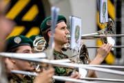 Die Musiker spielen in Altdorf traditionelle Blasmusik-Märsche und leichte Unterhaltungsmusik. (Bild: PD)