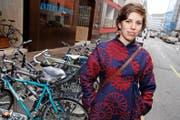Die begeisterte Velofahrerin Lisa Mazzone setzt sich für bessere Bedingungen für Zweiräder ein. (Bild: Keystone/Salvatore Di Nolfi)