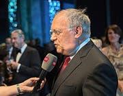 Bundespräsident Johann Schneider-Ammann: «Mahlers Konkurrenzverbot an seine Frau heisse ich nicht gut.» (Bilder Roger Grütter)